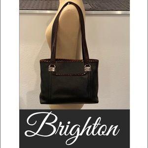 Authentic Brighton black leather handbag purse